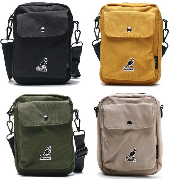 KANGOL 側背包 小口袋 黑 奶茶 黃 軍綠 小包包 隨身包 男女 (布魯克林) 69553009-
