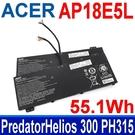 宏碁 ACER AP18E5L 3芯 . 電池 AP18E7M Predator Helios 300 PH315