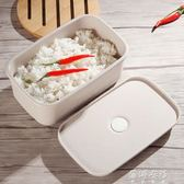 單層飯盒湯盒微波爐用日式便當盒學生成人分隔 便攜飯盒   蓓娜衣都