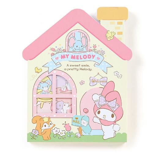 《Sanrio》美樂蒂可愛房屋造型便條紙 667021N