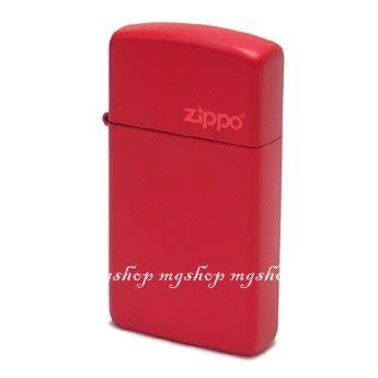 正版原裝 ZIPPO打火機 LOGO字樣-紅烤漆1633ZL(窄)