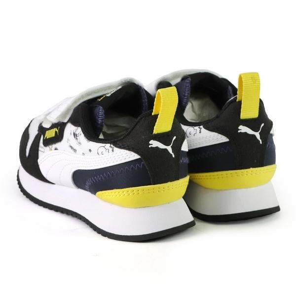 Puma PEANUTS 聯名 史努比 運動鞋 中童 黑白 NO.R6784(37574301)