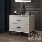 床頭櫃 北歐實木床頭柜簡約臥室小戶型床頭柜經濟型收納柜簡易床頭柜特價 快速出貨YJT