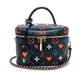 【台中米蘭站】全新品 Louis Vuitton Game On Vanity 手提斜背二用包(M57482-黑)