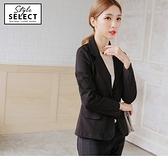 《KG0055》台灣製造.袖口開衩黑色西裝外套 OrangeBear