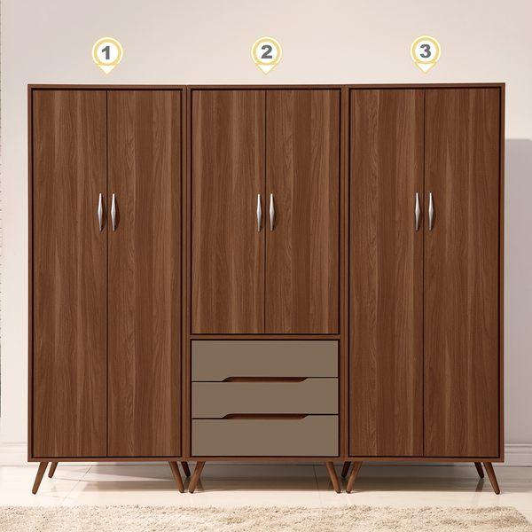 【森可家居】米蘭7.5尺組合衣櫃 8ZX366-5 衣櫥 北歐工業風 木紋質感