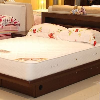 美國Orthomatic[Classic Firm]經典系列5x6.2尺雙人獨立筒床墊+透氣掀床, 送床包式純棉保潔墊