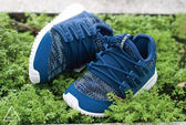 ISNEAKERS Adidas 小350 藍色 童鞋 編織 BA731714