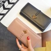 長款錢包法紋2019新款歐美時尚女士錢包女長款個性手拿包大容量女士錢夾潮雙12狂歡