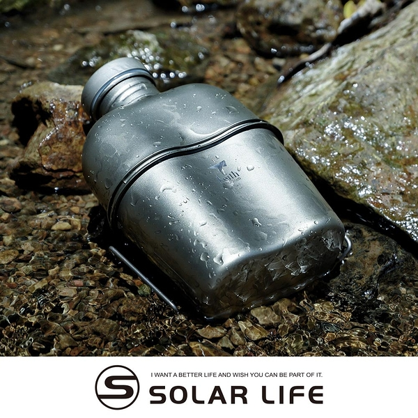 鎧斯Keith Ti3060純鈦輕量環保軍用水壺附含蓋飯盒戰術壺套
