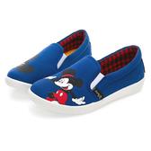 Disney 歡樂派對 米奇不對稱圖案便鞋-藍