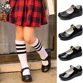 女童皮鞋公主鞋中大童單鞋皮鞋黑色學生皮鞋表演出鞋