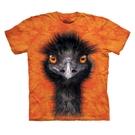 【摩達客】(預購) 美國進口The Mountain  亮橘黑鴕鳥 純棉環保短袖T恤(10416045059a)