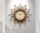 美式時尚創意時鐘臥室靜音鐘錶掛鐘客廳家用輕奢藝術掛表掛牆鐘錶  JQ