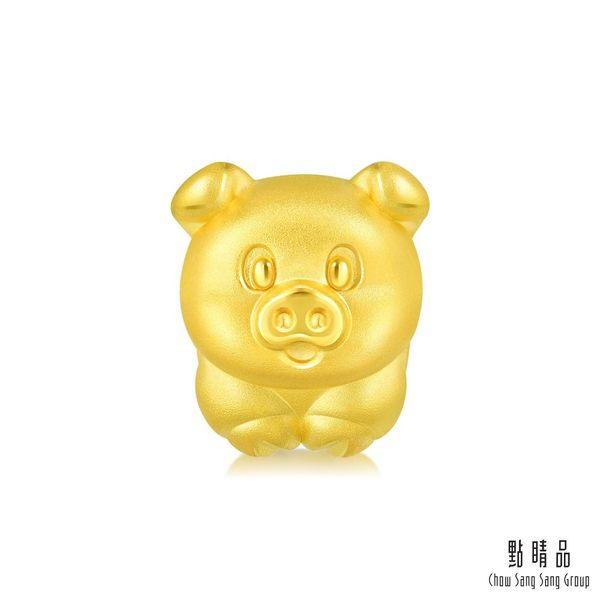 Charme 開運小豬 黃金串珠