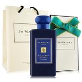 Jo Malone 英國梨與小蒼蘭香水100ml含外盒+緞帶+提袋-午夜藍聖誕限定