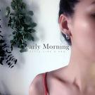 - 泰國 - early Morning - 粗款 圓圈耳環 獨立品牌 設計款 中性款 男生可配帶【TLL014】