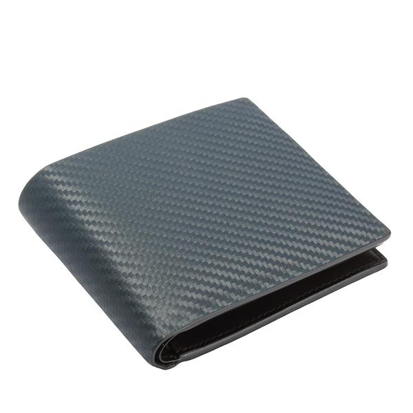 dunhill Chassis Billfold 碳纖維皮革多卡格證件短夾(夜藍色)257375-1