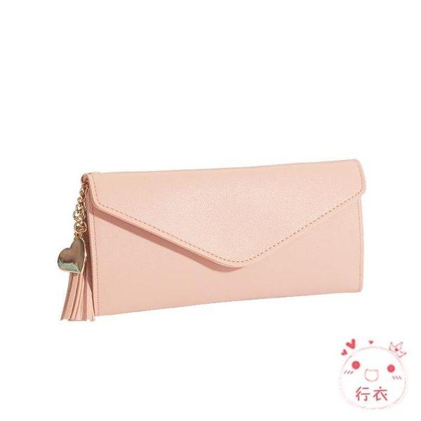 手拿包錢包女長髮正韓簡約個性零錢卡包多功能手拿超薄軟皮錢夾 1件免運