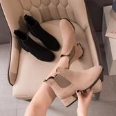 馬丁靴女2020年春秋季新款英倫風粗跟單靴百搭高跟鞋切爾西短靴子 非凡小鋪