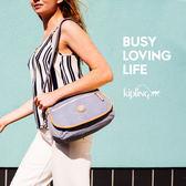 Kipling Edgeland 系列 北歐風簡約淺灰拼接側背包-中