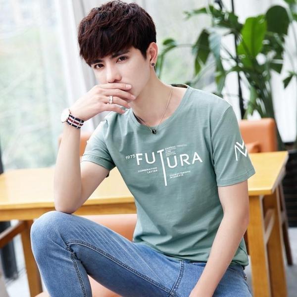 正韓短袖T恤 男潮流粉色學生韓版上衣 夏季新款青少年上衣服 M-3XL