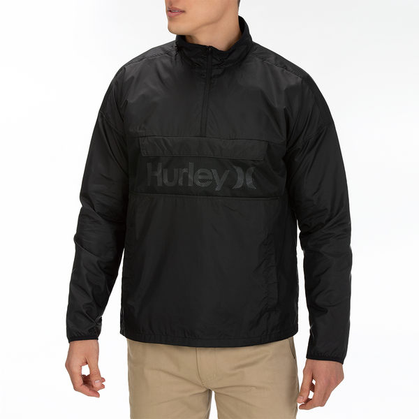 Hurley  M SIEGE ANORACK JACKET BLACK  夾克-(男)