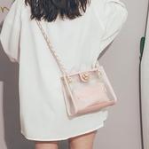 果凍包 高級感洋氣女包2021新款夏天時尚斜背包女百搭ins側背透明果凍包 晶彩生活