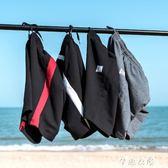 純棉運動休閒短褲男潮夏天大碼5五分褲中褲夏季寬鬆沙灘褲大褲衩      芊惠衣屋