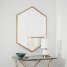春節特價 北歐六角鏡浴室鏡衛浴鏡化妝鏡鐵藝梳妝鏡裝飾鏡壁掛洗漱