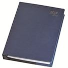 254-25K活頁~輕巧軟皮 ( 藍 )  Memo 內頁《天堂鳥月曆》