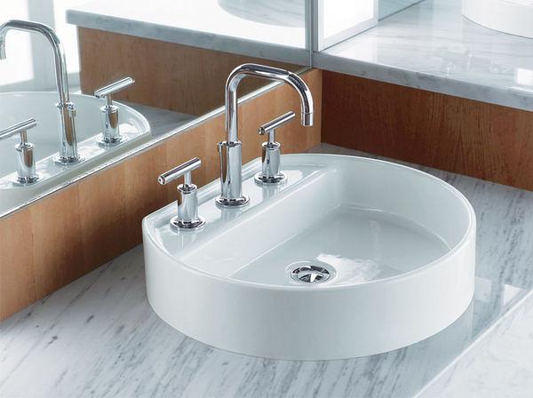 【麗室衛浴】美國 KOHLER Chord系列 三孔 檯上盆 K-2331K-8-0