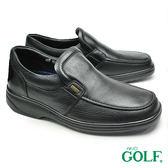 【GOLF】手工氣墊商務休閒鞋 黑色(GF295-BL)