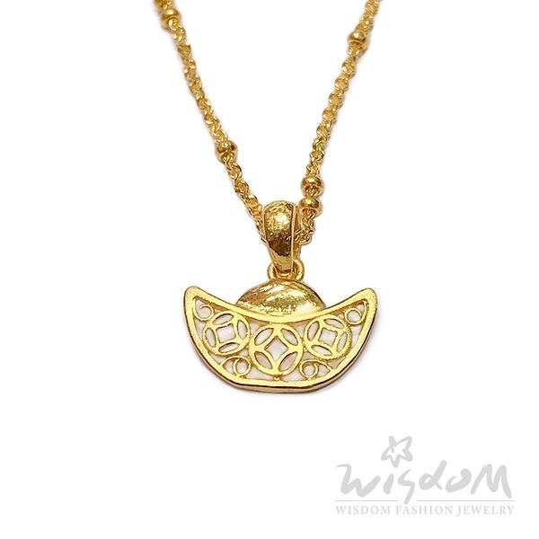 威世登 黃金古錢元寶墜飾(不含鍊) 金重約0.27~0.29錢 GD02109-EEX -FIX