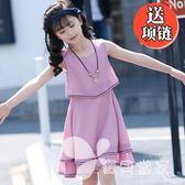 女童連身裙雪紡2018新款韓版夏季公主裙中大童兒童裝時尚洋氣裙子