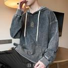 男士衛衣牛仔韓版潮流長袖套頭寬鬆2020秋季新款百搭舒適連帽上衣 【現貨快出】