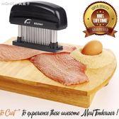 不銹鋼嫩肉鬆肉敲肉錘肉針斷筋器48針羊豬雞牛魚排針廚房工具   莫妮卡小屋