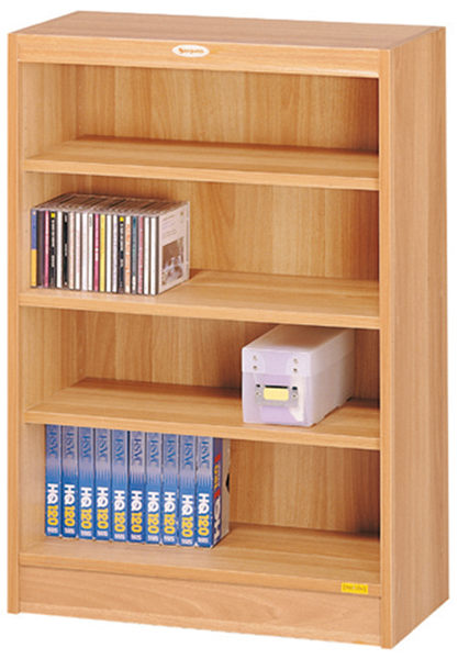 HY574-6  白胡桃色四段低櫃/ 書櫃(08024)-附兩片活動板.移動板32MM間距.多孔式設計