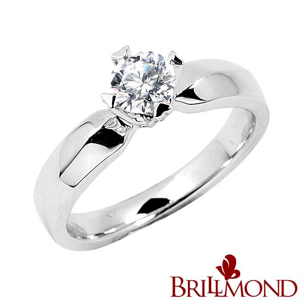 鑽石戒指BRILLMOND GIA心愛50分鑽戒(D VS2 3EX 無螢光 18K金台)