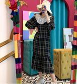 日韓流行長袖6363韓式花邊點綴寬鬆連身裙TBF-27C胖胖唯依