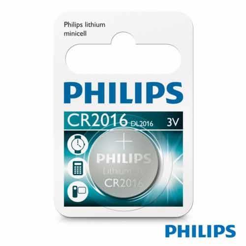 PHILIPS 飛利浦 CR2016 / 3V鈕扣鋰電池 1顆裝