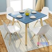 圓桌 小戶型家用客廳飯桌現代簡約吃飯桌子歐式輕奢多功能圓桌方桌【快速出貨】