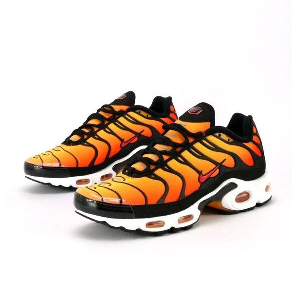 NIKE AIR MAX PLUS OG 橘黑 魚骨 氣墊 休閒 慢跑鞋 男女 (布魯克林) BQ4629-001