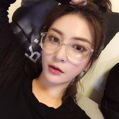 新年好禮 韓版原宿大框眼鏡框架圓形素顏近視眼睛潮軟妹網紅男女透明平光鏡