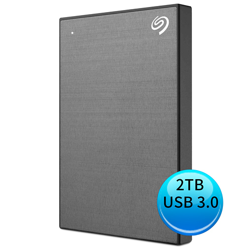 Seagate Backup Plus Slim 2TB USB3.0 2.5吋 外接硬碟 銀河灰 STHN2000406