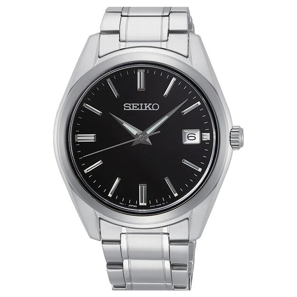 【台南 時代鐘錶 SEIKO】精工 CS系列 SUR311P1 簡約大三針 日期顯示 鋼錶帶男錶 @6R52-00A0D 銀 40mm