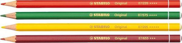 STABILO 色鉛筆original系列 細線高硬度色鉛筆六角筆身色鉛筆 1盒12支入
