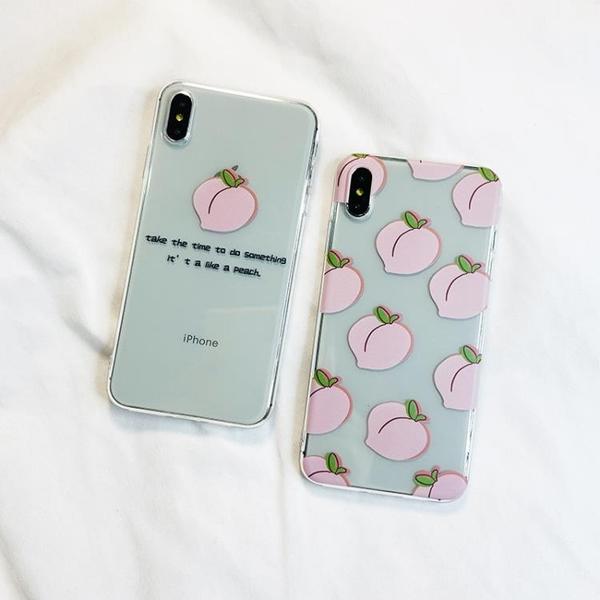 蘋果iphone11pro手機殼xr/xsmax/7/8plus韓國ins小清新6s桃子