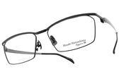 Masaki Matsushima MFT5021 C04 (黑-槍) β 鈦金屬鏡框 極簡流線半框款 #金橘眼鏡