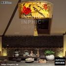 INPHIC-新中式布藝手繪吊燈禪意茶室茶樓燈具中國風風格臥室客廳燈酒店燈-直徑80cm_S3081C